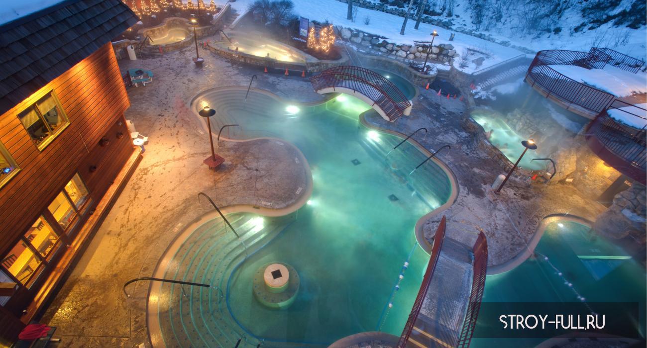 поддводные светильники для бассейна